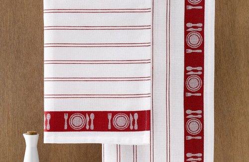 De Witte Lietaer Theedoek BML 65x65 Red