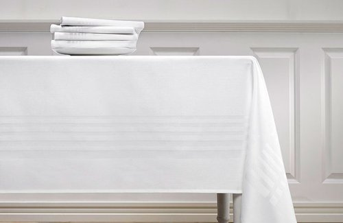 De Witte Lietaer Deauville Tafellinnen White