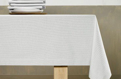 De Witte Lietaer Lambda Tischwäsche Silver Grey