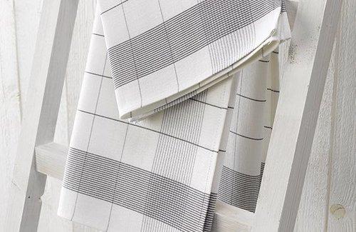 De Witte Lietaer Theedoek Mixte 68x68 Grey