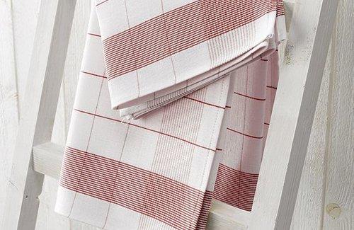 De Witte Lietaer Geschirrtuch Mixte 68x68 Red