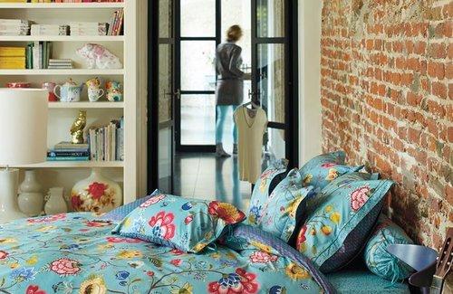 PiP Studio Dekbedovertrek Floral Fantasy 200x200/220 Blue