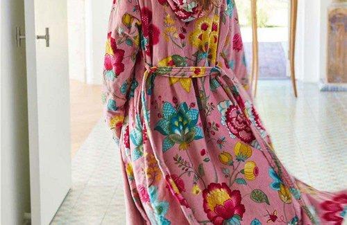 PiP Studio Floral Fantasy Bademantel Pink