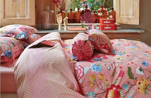 PiP Studio Dekbedovertrek Floral Fantasy 200x200/220 Old Pink
