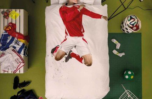 SNURK Dekbedovertrek Soccer Red