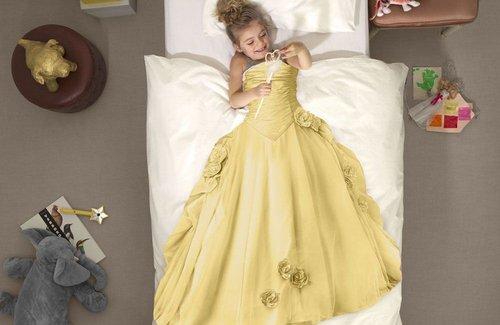 SNURK Princess Dekbedovertrek Yellow