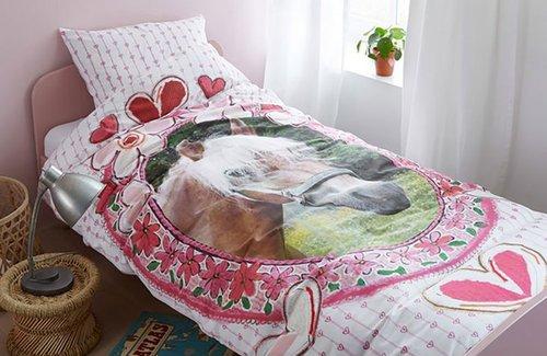 Licht Roze Dekbedovertrek : Beddinghouse dancing dekbedovertrek  roze linnenmode