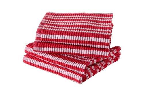 Jorzolino Spültuch Basics 32x32 Red-White