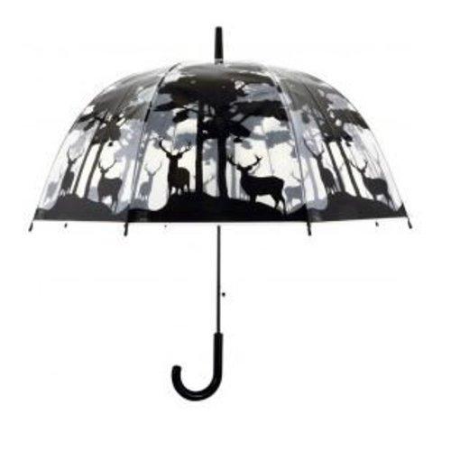 Esschert Design Paraplu transparant met bos motief