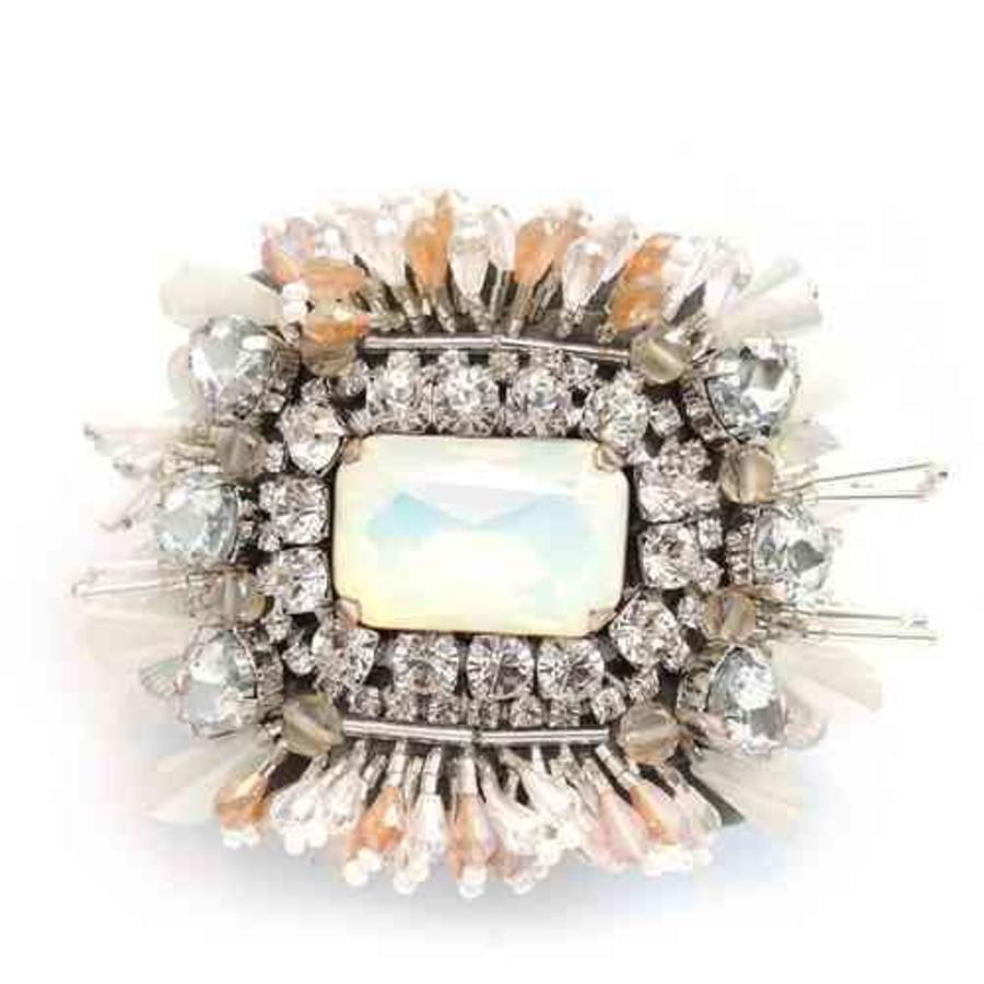 Crystal stone bangle