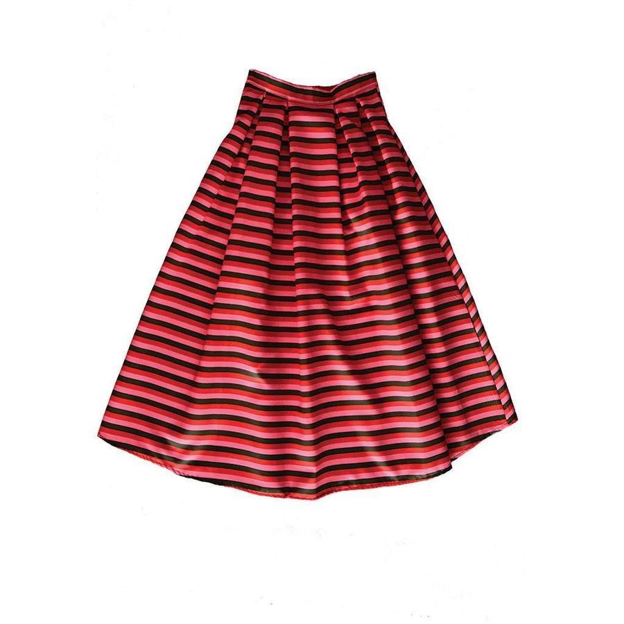 Coloured striped skirt
