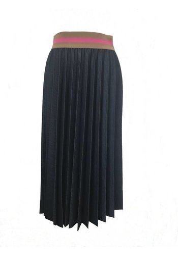 Souvenir Clubbing Denim pleated skirt