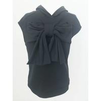 Bow sleeveless hoodie