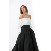 Silk broad waistband with pockets