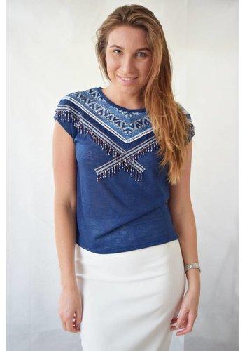 Ramos E Ramos/SMF Woman Hand beaded embroidered top