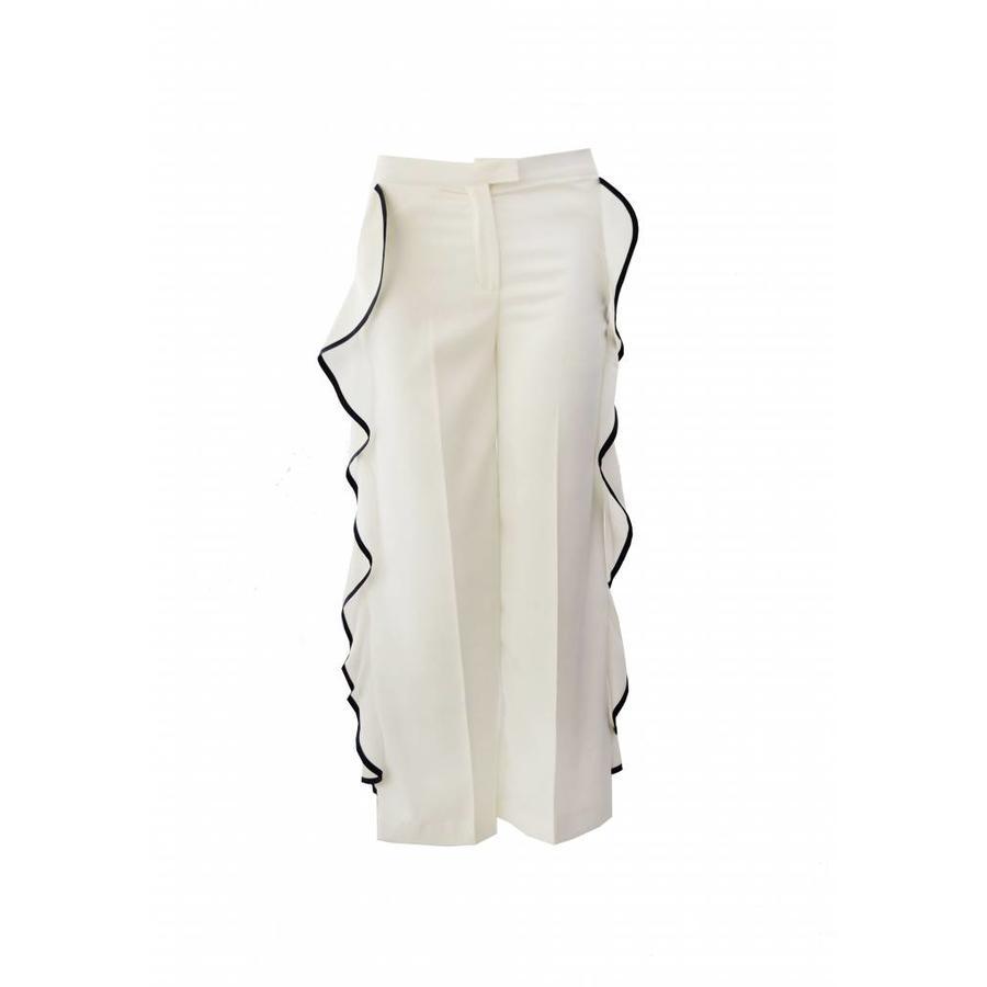 Side ruffles trouser