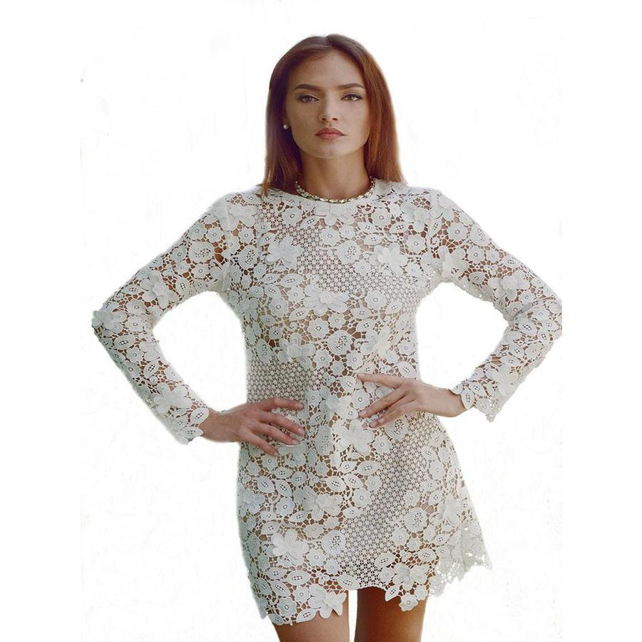 Long Sleeve Lace Dress - Love Shop Pray
