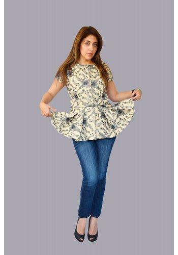 Preeti Chandra Embroidery short sleeve jacket