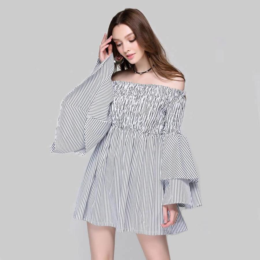 Adrienne  striped dress