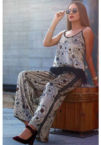 Motel By Kosmika Velvet printed trouser