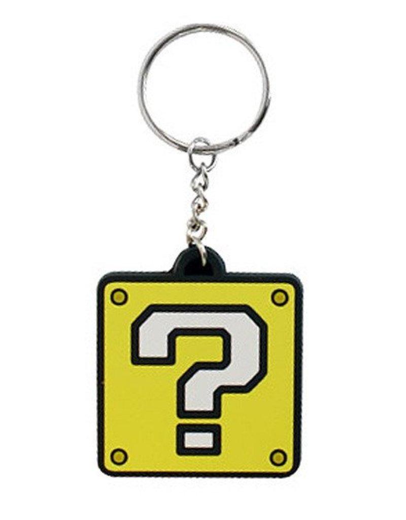 BIOWORLD Super Mario Bros. porte-cles caoutchouc Question Mark Block 5 cm