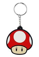 BIOWORLD Super Mario Bros. porte-cles caoutchouc Super Mushroom 6 cm