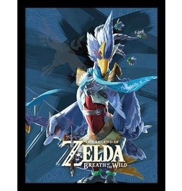 PYRAMID Legend of Zelda Breath of the Wild affiche encadrée Prodige Revali 45 x 33 cm