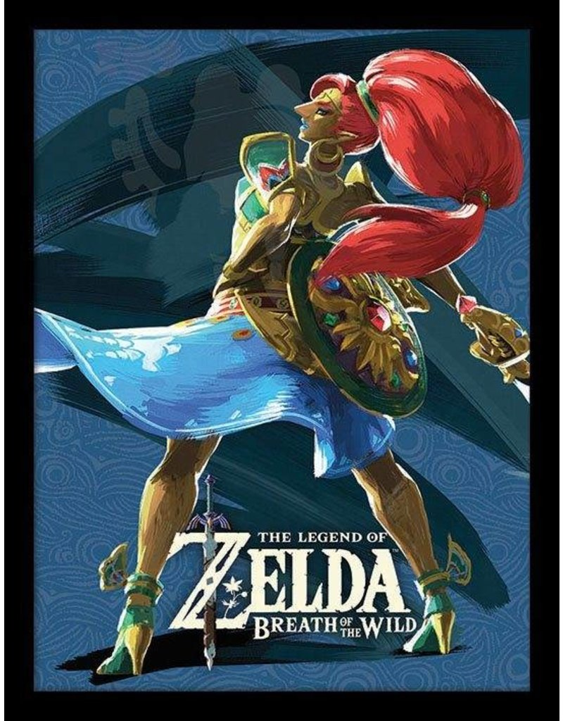 Legend Of Zelda Breath Of The Wild Poster Encadr 233 Prodige Urbosa 45 X 33 Cm Le Royaume Champignon
