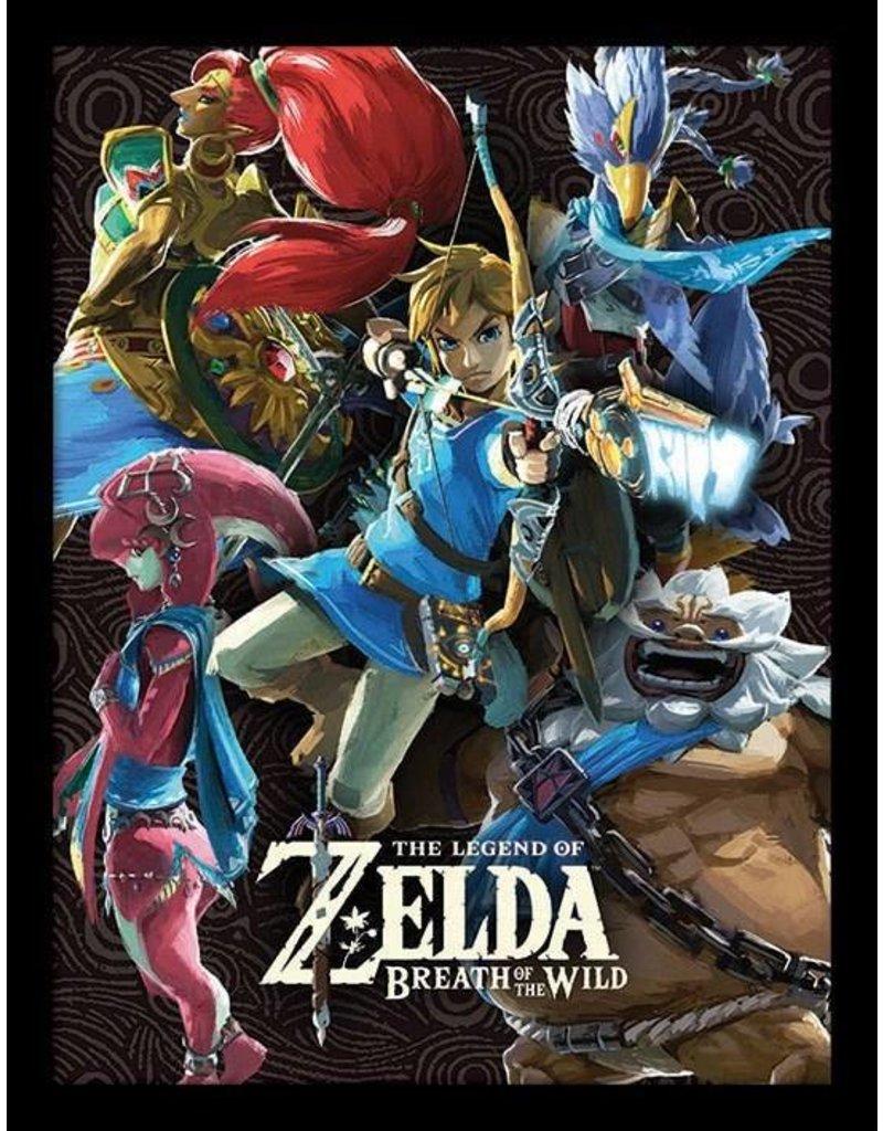 Legend Of Zelda Breath Of The Wild Poster Encadr 233 Les