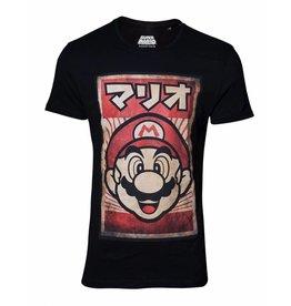 BIOWORLD Super Mario T-Shirt Propaganda Poster Inspired Mario