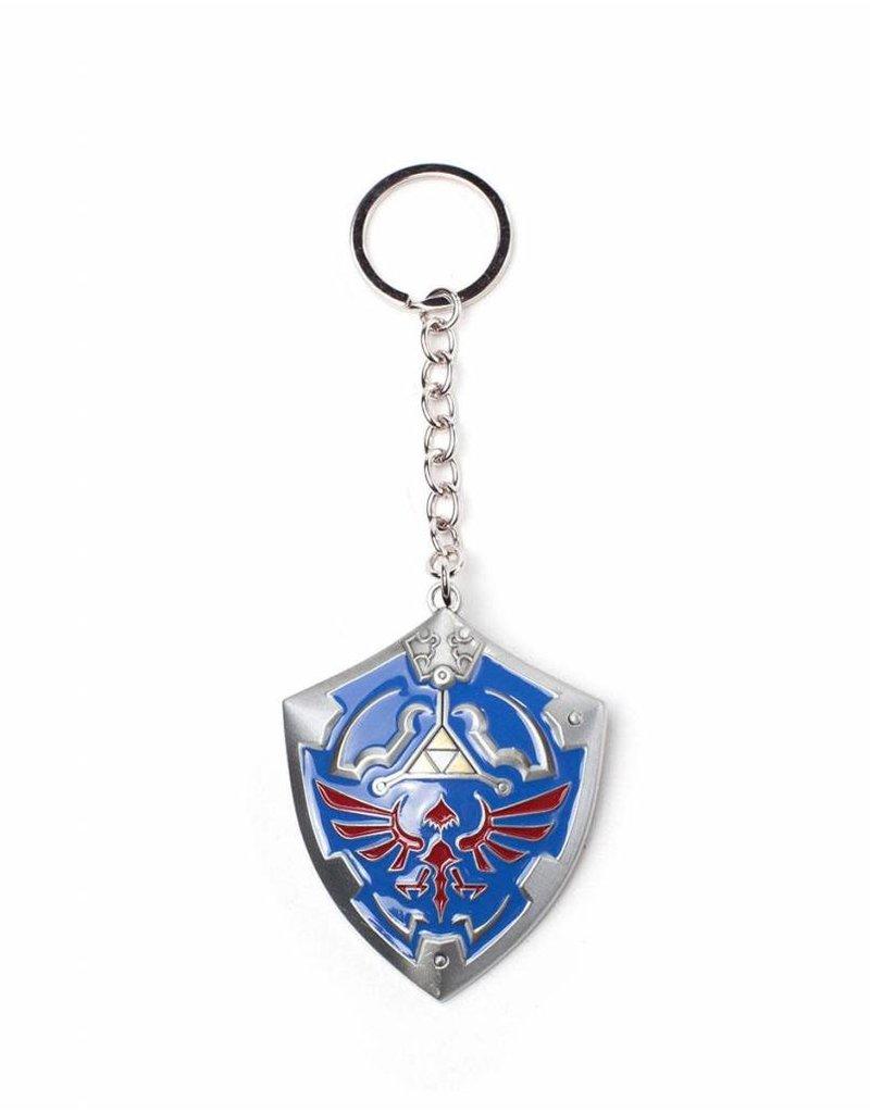 BIOWORLD The Legend of Zelda porte-clés métal 3D Hylian Shield 7 cm