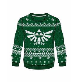 BIOWORLD Legend of Zelda Sweater Green Zelda X-mas