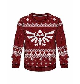 BIOWORLD Legend of Zelda Sweater Red Zelda X-mas