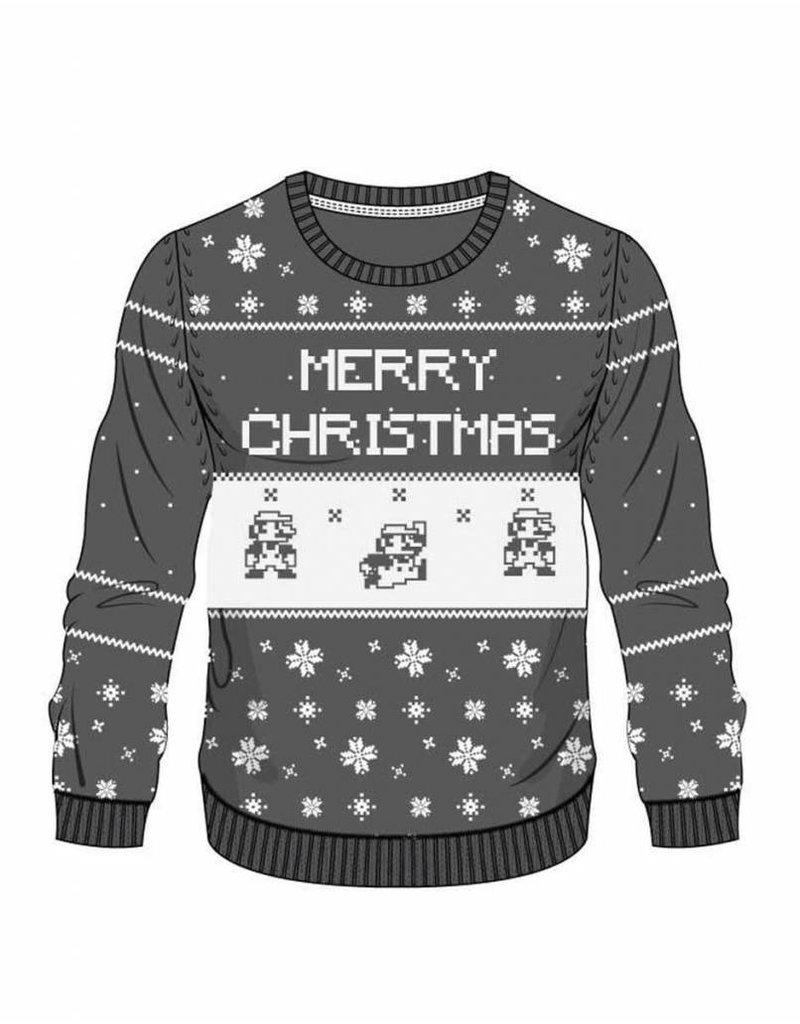 BIOWORLD Nintendo Sweater Black Mario X-mas