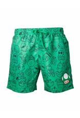 BIOWORLD Super Mario Bros - Short De Bain - Green