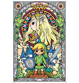 PYRAMID Legend of Zelda Affiche Vitrail 61 x 91 cm