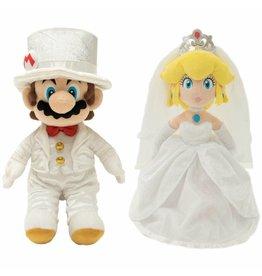 SANEI Super Mario Odyssey Peluche Premium  Box Mario & Peach Wedding 40cm