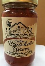 """Granda Tradizioni Sauce bruschetta """"Riviera"""" avec câpres & olives"""