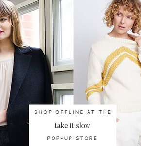 De Take it slow pop-up winkel