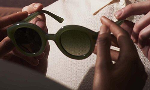 Duurzame zonnebrillen van bio acetaat