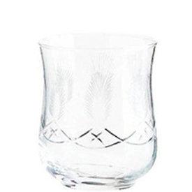 Madam Stoltz glas met gravure