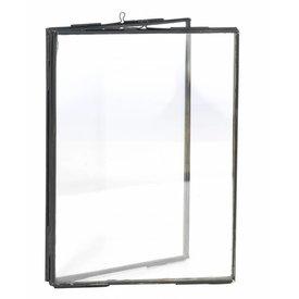 Madam Stoltz fotolijst dubbel glas zwart medium
