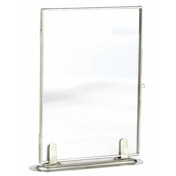 Madam Stoltz fotolijst enkel glas zilver