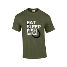 House of Carp Eat, Sleep, Fish, Repeat - T-Shirt