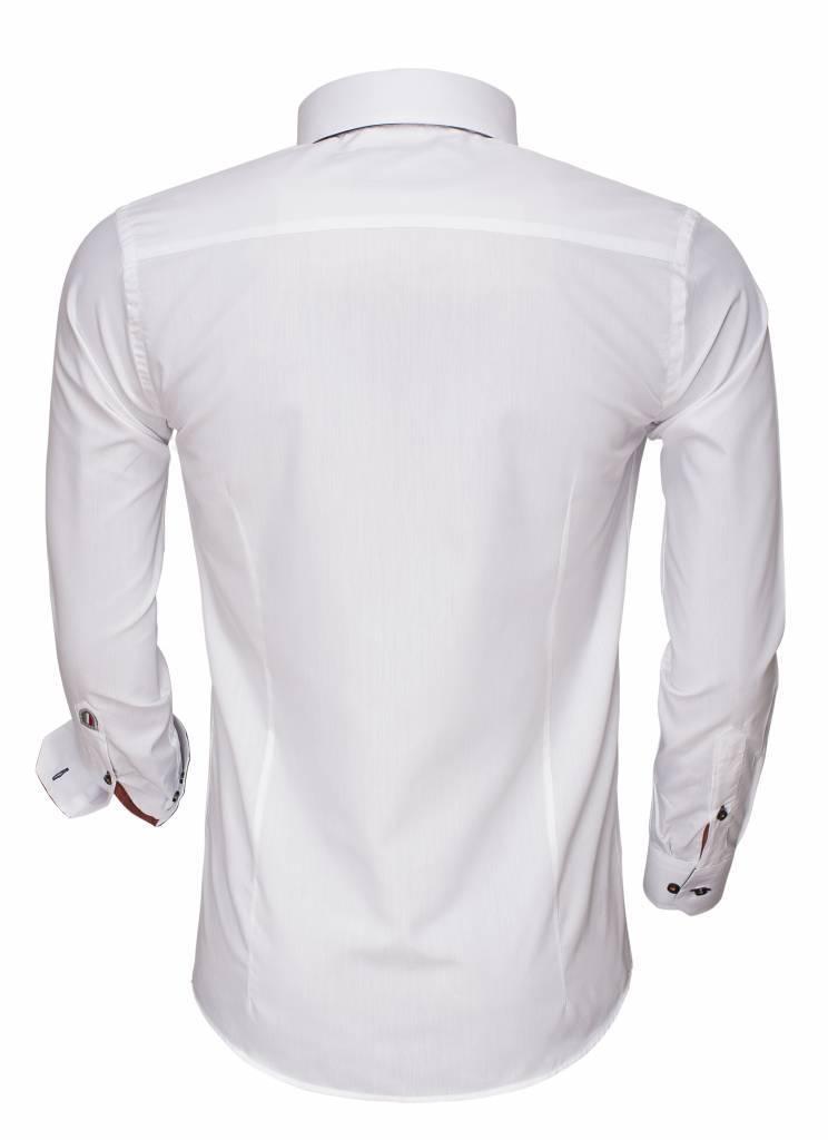 Arya Boy Overhemd.Overhemd Lange Mouw 85275 White Hagust360 Com