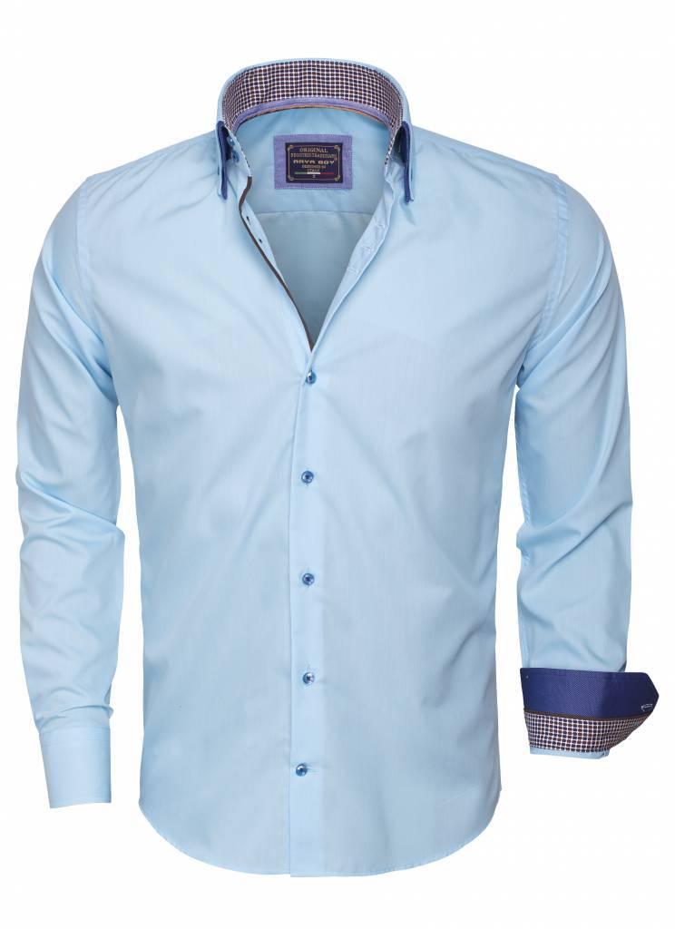 Arya Boy Overhemd.Overhemd Lange Mouw 85260 Turquoise Hagust360 Com