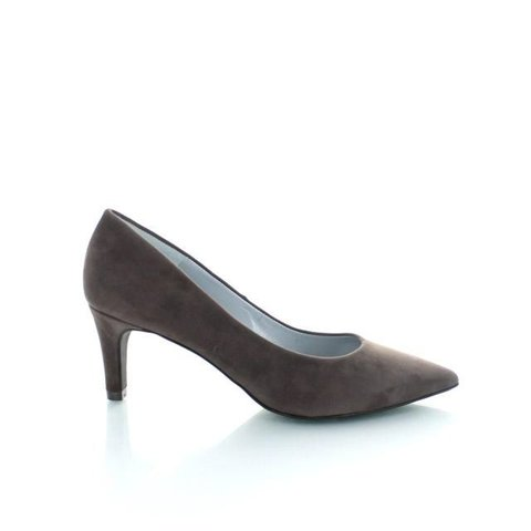 Ancona, Suede Pumps Donker Taupe