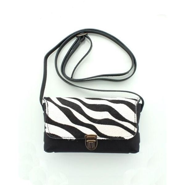 Colori Pelle tasje Zwart Zebra
