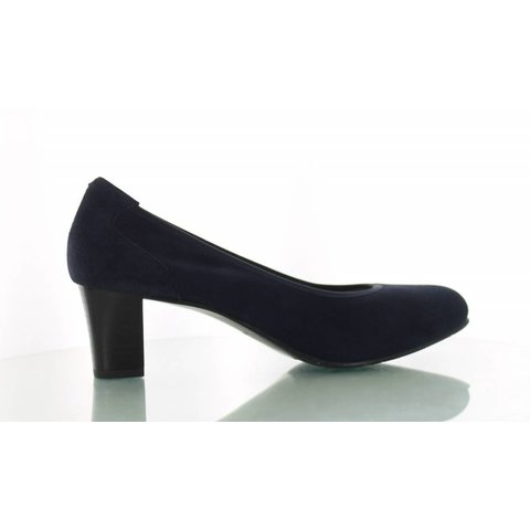 Denia, Suede Pumps Donkerblauw