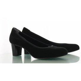 Denia Denia, Suede Pumps Zwart